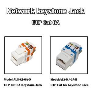 50 Pièces 10Gbps UTP Cat 6A réseau Keystone Jack RJ 45 Outils Port Ethernet Fluke Testeur pour câble Patch Panel