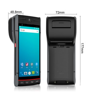 باليد الطرفية مع الطابعة الروبوت 8.1 يده آلة شاشة تعمل باللمس 5.5 بوصة PDA الباركود الماسح الضوئي والطابعة