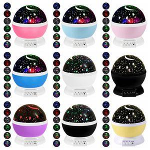 Cielo estrellado de la noche lámpara del proyector ligero Estrellas proyector LED niños de los niños del sueño del bebé de la lámpara de proyección LED romántico de la decoración del partido GGA3710