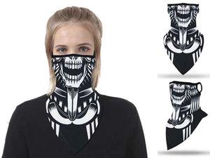 35 colores a prueba de viento máscaras de impresión bufanda del triángulo Deportes Mascarilla pesca ciclismo Correr cuello polaina Cubierta magia protectora engranaje DHD621