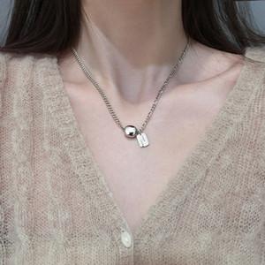 Good Luck Tag Kugel Halskette Armband Silber Ketten Frauen Halskette Modeschmuck Geschenk wird und sandige neue