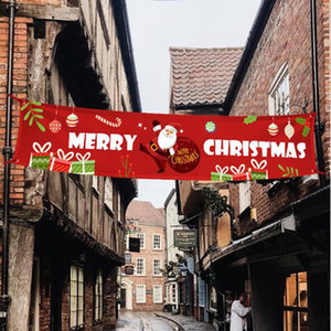 New Merry Christmas Halloween Banner Christmas Decorations for Home Outdoor Store Banner Flag Pulling Banner Flags