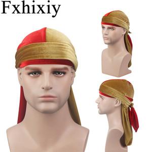 New Unisex Men Breathable Bandana Velvet Wigs Durags do doo Hip Hop Long Tail Turban Hat Headwear Hat Hair Accessories