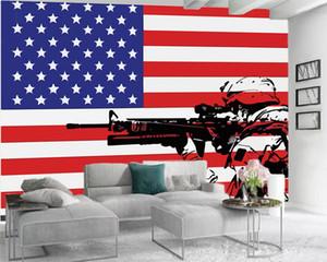3d Modern Wallpaper 3d Bedroom Wallpaper Hero with a Gun Home Decor Living Room Bedroom Wallcovering HD Wallpaper