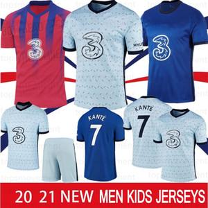 20 21 Футбол Футбол для футбола Kante Werner Ziyech 2020 2021 Marcos A. Футбольная рубашка Домашний дом Abraham Chiilwell Mens Kit Kit Kit