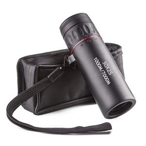 Gezi Av DHL FEDEX Free For High Definition Monocular Teleskop 30X25 Su geçirmez Mini Taşınabilir Askeri Yakınlaştırma 10X Kapsamı