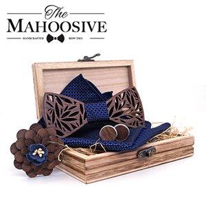 Conjunto de corbata de arco de madera y pañuelo Bowtie Necktie Cravate HOMME NOEUD PAPILLON CORBATAS HOMBRE PAJARITA REGALO PARA HOMBRES CHIRTMAS