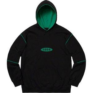 19AW Étaler Logo Mens Designer 1994 Sweat Hoodies Homme Femme Haute Qualité Designer Rue Hoodie Couple Wear Pull Hoodies Taille S-XL