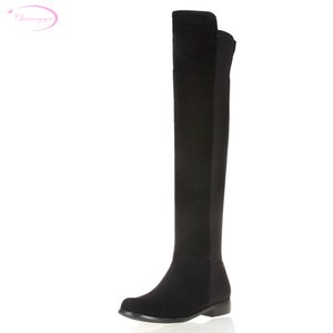 Chainingyee handmade quality custom leather knee high boots sheepskin stretch metal decorative buckle women's riding boots