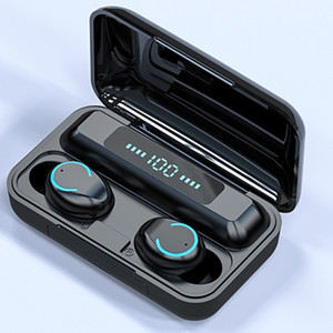 Mostra auricolare senza fili 9D V5.0 LED Bluetooth per cuffie stereo Earbuds Touch Control Headset Cuffie Per Xiaomi TWS