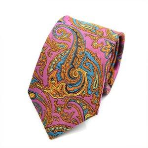 Handmade Tie New High Weft Paisley Cashew Flower Polyester Trendy Men's Business Banquet Wedding Suit Accessories Necktie Gifts