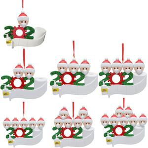 2020 Карантин Рождественские украшения День рождения украшения партии DIY Имя Семья из 7 Смола Рождество Декоры Pandemic социальное дистанцирование