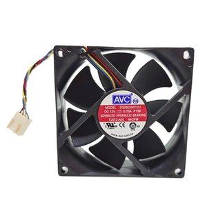 Ventilateurs de ventilateurs 80mm Ventilateur PWM pour AVC DS08025R12U 0TJ5T2 8025 8CM 12V 0.70A 64CFM Contrôle de vitesse 80 * 80 * 25mm