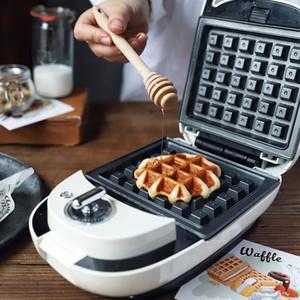 New Electric Sandwich Bubble Egg Waffle Donut Maker Omelette Petit-déjeuner Machine pour Home Office Egg gâteau cuisson du pain Grille-pain