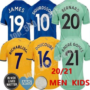 2020 2021 19 James Richarlison Everton maglie di calcio Doucouré BERNARD 20 21 SIGURDSSON DIGNE Cenk Tosun ANDRE Uomi bambini terzo CALCIO SHIRT