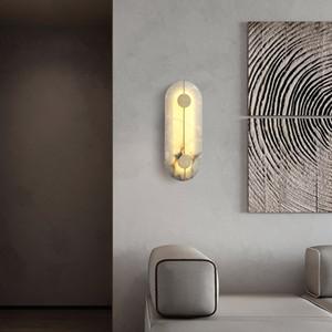 Modern Sconce Lamp Wall Light Marble abajur LED aparelho de iluminação para casa Lâmpadas decoração do quarto Copper LAMPADAS