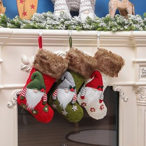 HOT Christmas decoration knitting faceless bag Christmas socks candy socks gift socks Christmas Tree Pendant 3style 35PCS T500250