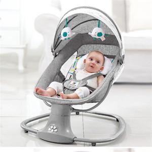 Bebé eléctrica silla de oscilación de los recién nacidos silla de dormir cuna comodidad cama de niño reclinado para el bebé 0-3 años de edad