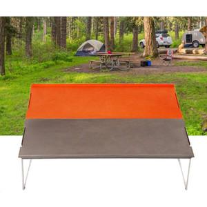 Ultralight Outdoor Mini Tabella di piegatura picnic escursionismo in lega di alluminio portatile zaino in spalla pieghevole da tavolo Griglia Tea Table VT1640