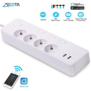 heap Smart Power Socket Plug WiFi Smart Power Strip Intelligent EU Plug Electrical USB Sockets Wireless Timer Remote Independent Control ...