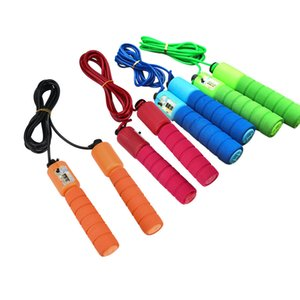 Training fitness Kids Children Jump Rope Skipping Skip Rope Adjustable Length Automatic Counting Sport Accessories @40