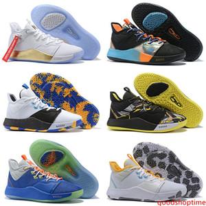 2019 bandeira americana New Paul George 3 PG3 EYBL O Mestre NASA BHM Basketball Shoes Venda baratos homens formadores PG Sports Sneakers Tamanho 7-12