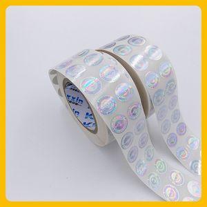 Custized lazer baskılı karşıtı sahte güvenlik boşluğu yuvarlak hologram rulo etiket etiket