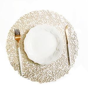 38 * 38cm Placemat Kitchen Table Mat Natale di simulazione PVC Table Mat Decorazione Decorazione della tavola stuoie