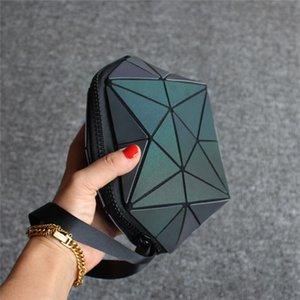 Cosmetic Bag Cgjxs geometrica Borsa irregolare semicerchio Diamante modello Shell Tipo coreana versione luminosa sbiadimento Moda Bella