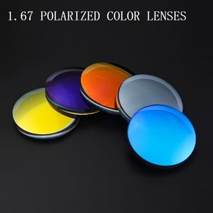 1.67 Polarized colorful Glasses Lenses Spherical Brand Myopia Prescription Goggle Optical glass lenses Sunglasses cycling eyewea
