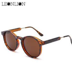 LeonLion 2020 Vintage Lunettes de soleil rondes Femmes / Hommes Classique Outdoor Gafas UV400 Marque Designer Driving Lunettes de soleil
