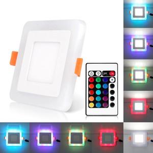 LED 드라이버와 광장 LED RGB 통은 + 원격 제어 디자인 6W 9W 16W 24W LED 천장 패널 빛 AC110-220V