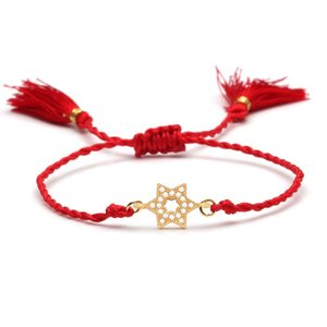 Mini Glaring Zircon Cuivre Étoile de David Magen Lucky Charm Bracelet femmes fille 2020 New Fashion Star juive Bijoux cadeau