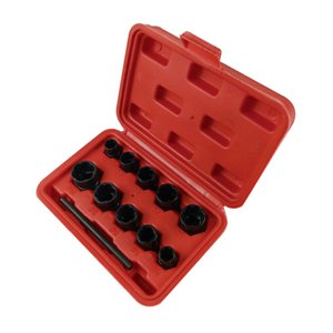 Damaged Bolt Nut Screw Remover Extractor Removal Set Nut Removal Socket Tool Threading Hand Tools Kit With Box Hot Sale