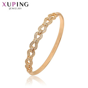 Xuping Fashion Bangle New Arrival High Quality Jewelry Luxury Gold-color Plated Bangle Valentine's Gift S96.4-52173