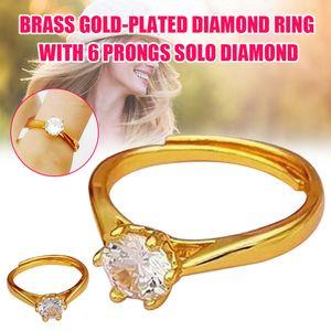 Bague Cercle d'or Finger Hoop Bijoux réglable 6 cadeau pour les femmes Boutique Mariage NYZ