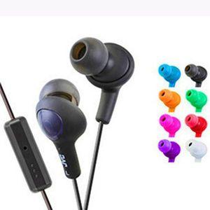 ملون سماعات الأذن جودة صوت حياة طويلة سماعة 3.5mm سماعة HA-FR6 غومي زائد مع MIC لالروبوت الهاتف الذكي مع حزمة البيع بالتجزئة