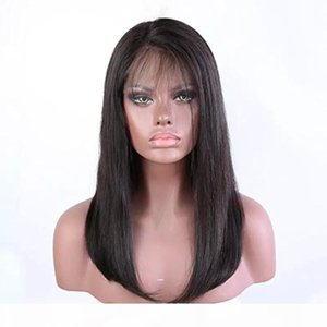 360 Lace Front Wigs Pre Plucked Natural Straight Real Cheap Virgin Brazilian Glueless 360 Frontal Full Lace Human Hair Wig For Black Women