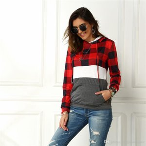 Sleeve Autumn Designer Fashion Solid Color Spring 2020 New Style Casual Apparel Plaid Print Women Designer Hoodies Long