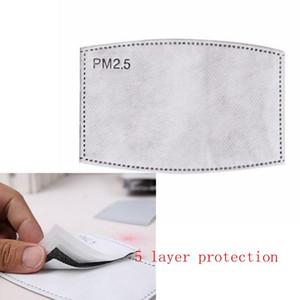 PM2.5 descartável Máscara de Filtro Pad 5 Camada Rosto máscaras protetoras Replacement Pad Inner junta de substituição do filtro Pad Respirador atacado