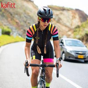 kafitt Велоспорт Джерси костюм с коротким рукавом женщины и 9D проложенного нагрудника геля колодки шорты Sportwear и др Cuissard де Cycliste ф Комбинезонов