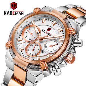 KADEMAN Luxo Mulheres Moda Relógios Waterproof Casual Quartz Ladys relógio para Mulher Vestido Ladies Relógios de pulso Relógio Feminino