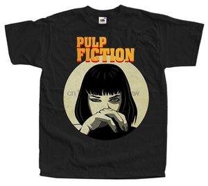 펄프 픽션 (Pulp Fiction) V1 영화 포스터 T 셔츠 레드 블랙 네이비 화이트 모든 크기 S로 4XL