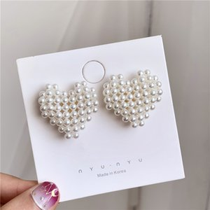 Hot Sale Personality Exaggerated Women Love Earrings S925 Vintage Style Girls Stud for Gift Fashion Wedding Bride Earrings Accessories