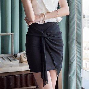 alta cintura profesional iww1s verano nueva OL Rixin hip-Ol coser profesional de hip-coser cordones de la cadera falda falda de costura irregulares
