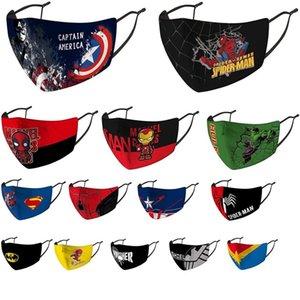 Pano máscara facial crianças máscara montando protecção fria novo Homem-Aranha Batman super-herói escudo capitão máscara criança punidor deadpool maravilha criança