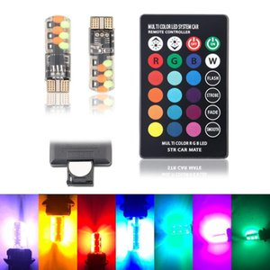 New Car Width Indicator Light T10 W5W RGB Silicone 5050 6SMD LED Colorful Width Indicator Light Flashes