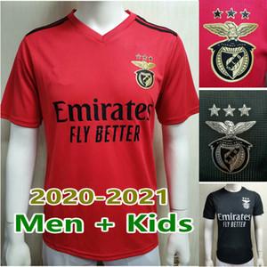 20 21 Benfica Futbol Formaları Otsamendi Vinicius Pizzi Rafa Seferovic A. Almeida 2020 2021 SL Benfica Waldschmidt Jersey Erkekler + Çocuk Kiti Setleri