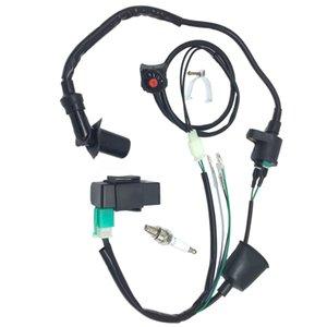 Cambie el juego de cables del arnés de muertes bici de la suciedad bobina de encendido CDI Para 50-160cc Pit