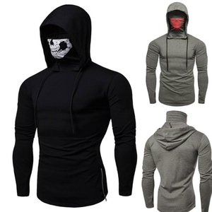 Pure Hoodies Mask Sweatshirt Style Color Skull Long Sleeve Mens Blouse Tops Pullover For Men Casual Hooded Tpafx
